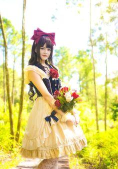 ♡❅♡❅♡❅♡ Do you want to be Snow White on Halloween day?  (♡❅IN STOCK❅♡) Japan Fashion, Kawaii Fashion, Lolita Fashion, Frilly Dresses, Pretty Dresses, Japanese Street Fashion, Korean Fashion, Princess Daisy Costume, Gothic Lolita