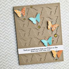 Spread Your Wings Card by Heather Nichols for Papertrey Ink (January 2016)