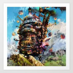Buy howl's moving castle Art Print by ururuty. Worldwide shipping available at Society6.com. Just one of millions of high quality products available.