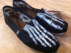 Jon- I'm reposting these for you!  Saw them and immediately thought of you.  Wouldn't your nursing school friends be jealous!? ;) Skeleton TOMS $115.00