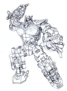 Transmetal Optimus Primal - Sketch by Paul Heal a.k.a. Draconis130