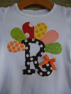 Turkey Initial Shirt sizes 3m5TSHIRT ONLY by theuptownbaby