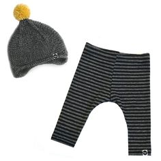 This bamboo cotton baby line runs true to size. We recommend washing cold with phosphate free detergent and hang to dry. Bamboo Cotton will shrink in the dryer. This set includes: one hand knitted warm pom beanie, and one pair of bamboo leggings Hand Knitting, Mustard, Charcoal, Beanie, Leggings, Baby Outfits, Cotton, Pants, Clothes