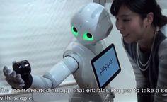 pepper robot selfie