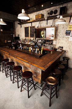 rustic / industrial bar