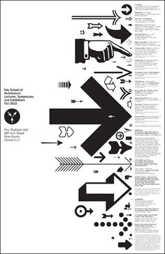 Yale School of Architecture | A series of promotional posters designed for the school's lectures and events | by Pentagram | black and white type design