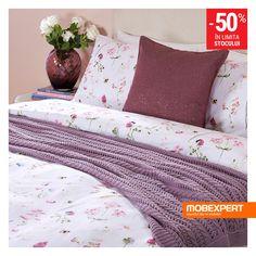Îmbracă patul în haine noi. #asternut #pat #mobexpert Winter Sale, Comforters, Blanket, Bed, Creature Comforts, Quilts, Stream Bed, Rug, Blankets