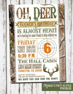 Hunting Theme  Birthday Invitation by Meghilys on Etsy, $8.00
