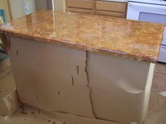 So Lovely Creations: DIY Painted kitchen counter tops..shows hot to do it!