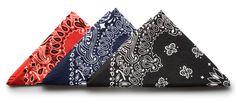 Cotton Paisley Bandana - Versatile cotton handkerchief in a classic