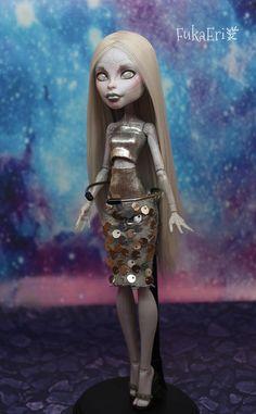 Monster High Custom Repaint Art doll OOAK Elle Eedee