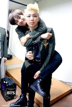 Just look at Rapmon's face for a second and then V's see the similarity?