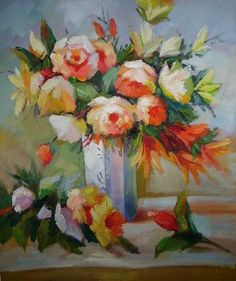 paintings of still life flowers by