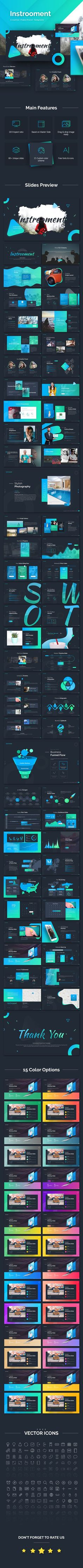 Instrooment Creative PowerPoint Template — Powerpoint PPTX #advertisement #pptx • Available here ➝ https://graphicriver.net/item/instrooment-creative-powerpoint-template/21055619?ref=rabosch