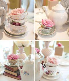 bridal luncheon centerpieces