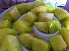 Fresh pineapple with #Flaschengeist Melon Liqueur - soaked overnight www.facebook.com/flaschnparties 0433312928