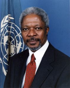 Kofi Annan is a former Secretary General of the United Nations.  He served from 1997 to 2006.  He has taken the forefront in trying to bring peace to Syria.  He has brought both the supporters and opponents of President Assad together in an effort to institute a cease fire in Syria.
