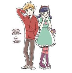 Adrien and Marienette as Marco and Star