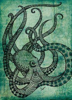 octopus by Daniela Alejandra Silva Hidd | Society6