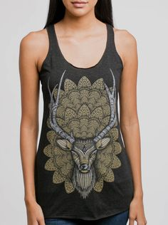 2616c1fabb5b6 Buck Head - Multicolor on Black Triblend Women s Racerback Tank Top - Curbside  Clothing