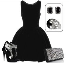 Whether going to a 5-star restaurant or hitting the #club scene tonight, this #littleblackdress combination with the #Tallulah earrings and #Trixie ring is sure to be a hit!