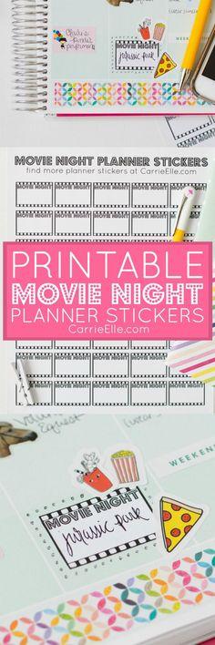Printable Movie Night Planner Stickers (sponsored #StreamTeam)