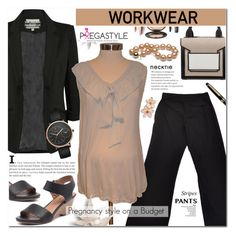 """""""Work wear - Pregastyle 6"""" by cly88 ❤ liked on Polyvore featuring Motherhood Maternity, Pilot, Diana Ferrari, Skagen, Pierre Hardy and Montblanc"""