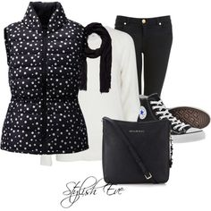 """""""Black & White Cozy Casual !"""" by stylisheve on Polyvore"""