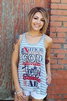 One Nation Under God Tank | The ZigZag Stripe