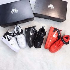Nike Air Force NBA section Real two-layer leather lychee pattern high Jordans Sneakers, Air Jordans, Nike Air Force High, Nba, Pattern, Leather, Shoes, Fashion, Moda