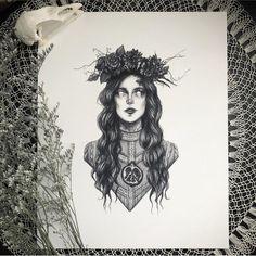 Greek Goddess Tattoo, Persephone Greek Goddess, Goddess Of The Underworld, Greek Goddess Art, Greek Mythology Tattoos, Greek Gods And Goddesses, Hades And Persephone, Goddess Pagan, Greek Goddess Of Spring
