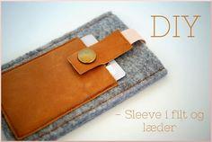 DIY - sleeve i filt og læder - Stjernepels
