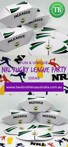 NRL Rugby League Party Ideas Fun and unique party ideas, invitations, decor and favours to hand out to your guests for any NRL-t Fairy Party Favors, Party Favor Bags, Construction For Kids, Construction Birthday Parties, Creative Party Ideas, Ninja Party, Party Packs, Childrens Party, Unicorn Party