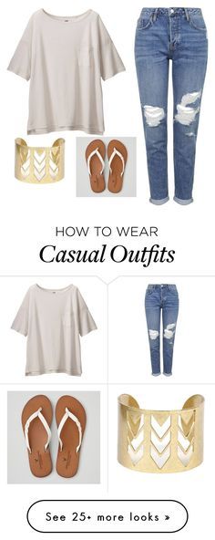 """Casual"" by ksbrandt5380 on Polyvore featuring Uniqlo, Topshop and American Eagle Outfitters"