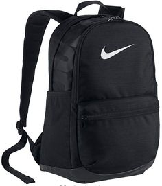 196a3a3fb87b0 The Nike™ Brasilia XL II Backpack features a front pocket and Swoosh design  trademark.