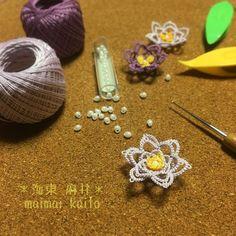 3D flower part 2 I can't draw this pattern   #tatting #maimaikaito #originaldesign #タティングレース #オリジナルデザイン  #minne完全放置中なのにフォローしてくれた人ごめんなさい #やっぱり売らないと思う #売ったら他の人が作れなくなっちゃうし #だから参考にした人は売らないでね(^_-) #でもレシピ描くってチョー大変 #リフォーム計画始動して忙しくなるのです #全て保留で楽しませてください(e_e) #今はただ作っていたいから