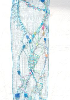 bobbin lace scarf, made by Uli Baysie