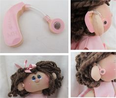 Doll with hearing aid. Would be so cute for a pediatric practice. Speech Language Therapy, Speech Pathology, Speech And Language, Speech Therapy, Deaf Sign, Cochlear Implants, Hearing Impairment, Deaf Culture, American Sign Language