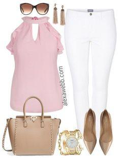 Plus Size White Jeans - Plus Size Casual Outfit Idea - Plus Size Fashion for Women - alexawebb.com