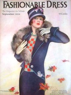 sydneyflapper:  Fashionable Dress magazine, September 1924  Kittyinva: She is so pretty, and her outfit is lovely.