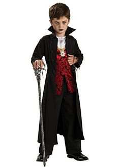 Kids Gothic Royal Vampire Boy Costume Large 8-10 years by Rubie's Masquerade