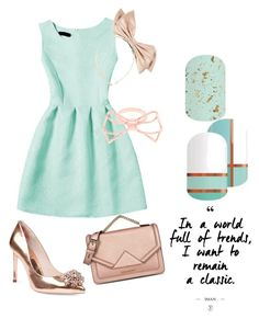 """""""jade party dress"""" by sarahphelps-i on Polyvore featuring Ted Baker and Karl Lagerfeld"""