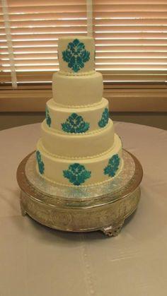awesome 80 Stunning Damask Wedding Cake  https://viscawedding.com/2017/07/18/80-stunning-damask-wedding-cake/