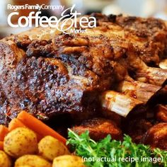 COFFEE RECIPE OF THE WEEK –   Coffee Braised Short Ribs Recipe  http://www.rogersfamilyco.com/index.php/coffee-braised-short-ribs-recipe/    Ingredients:  3 pounds short ribs  Salt and freshly ground black pepper  2 tablespoons olive oil  1 cup dry white wine  1 cup strong brewed coffee  1 large yellow onion, chopped  3 cloves garlic, chopped  2 teaspoons hot or mild chili powder  1 teaspoon dried oregano    Give this recipe a try and let us know how it turns out. #coffee #recipe #bbq…