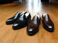 pauwmannen: Shoes by Bontoni - Principe in Nero and Ciocciolato Antico