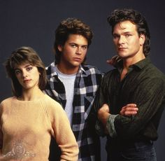 Rob Lowe, Patrick Swayze and Cynthia Gibb in Youngblood