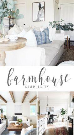 I'm loving all the Farmhouse Simplicity.