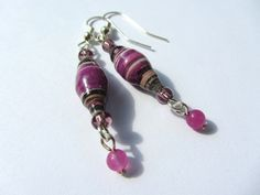 Purple Paper Bead E 1