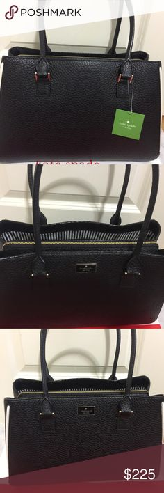 """AUTHENTIC NEW KATE SPADE PROSPECT  Place Phila BAG BRAND NEW KATE SPADE PROSPECT  Place Phila Handbag LAST ONE FINAL PRICE  it convinient hand bag has 3 pocket in the middle pocket has zipper Leather  Handbag original price $398.00now $235.00new with tag  NO TRADE!! Bag height 10"""" bag depth 5.5"""" bag Length 14"""" NO TRADE kate spade Bags Satchels"""