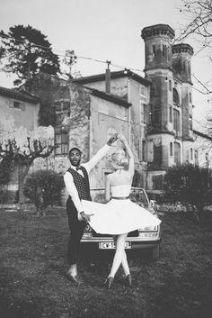 Mariage Rockabilly : inspirations décoration & mode Robe Baby Doll, Inspiration, Rockabilly Wedding, Red Ribbon, Quirky Wedding, Biblical Inspiration, Inspirational, Inhalation